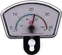 Amuzocity Termómetro Higrómetro Pantalla Digital De Temperatura Para Acuarios - Cuadrado