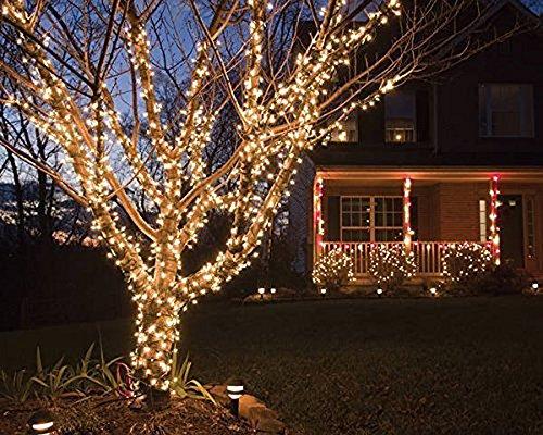 Lianqi 10M/33ft 100-LED Icicle Cadena Luces, Lámpara de Hadas Blanco cálido de 8 Modos Cuerda...