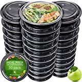 Meal Prep Containers - Reusable Plastic Containers with Lids -...