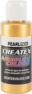 Createx 5307-02 Airbrush Paint, Pearl Satin Gold, 2 oz