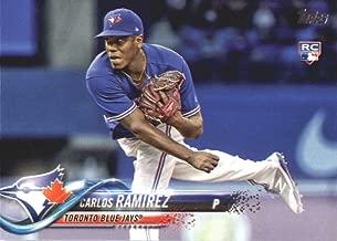 2018 Topps Series 2#467 Carlos Ramirez Toronto Blue Jays Rookie Baseball Card - GOTBASEBALLCARDS