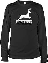 Hoodteez Fast Food, Hunting Deer Men's Long Sleeve Shirt