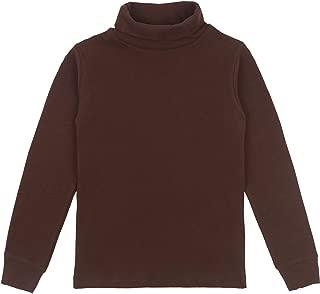 Spring&Gege Girls Solid Cotton Turtleneck Kids Base Thick Shirts Top