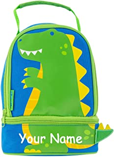 Stephen Joseph Personalized Dino Dinosaur Print Design Lunch Pals Lunch Box Bag with Custom Name