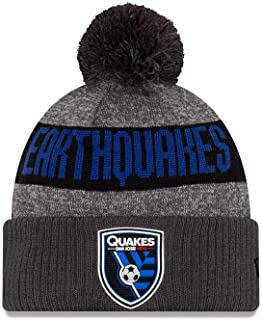 New Era San Jose Earthquakes Knit Hat Official Pom Knit Beanie
