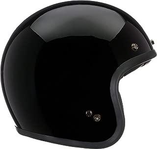 Bell Custom 500 Open-Face Motorcycle Helmet (Solid Gloss Black, Small)