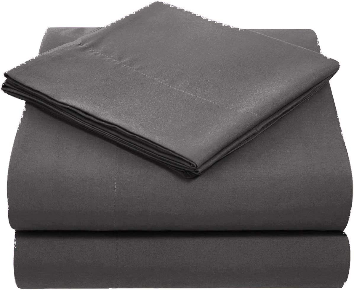 Dzire Linen High Kotton 100/% Egyptian Cotton 3 PCs Fitted Sheet Set 10 inch Deep Pocket 800 TC Solid Pattern Size Twin-XL Color Black