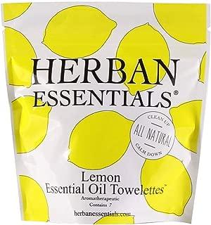 Herban Essentials Mini Towelettes (Lemon)
