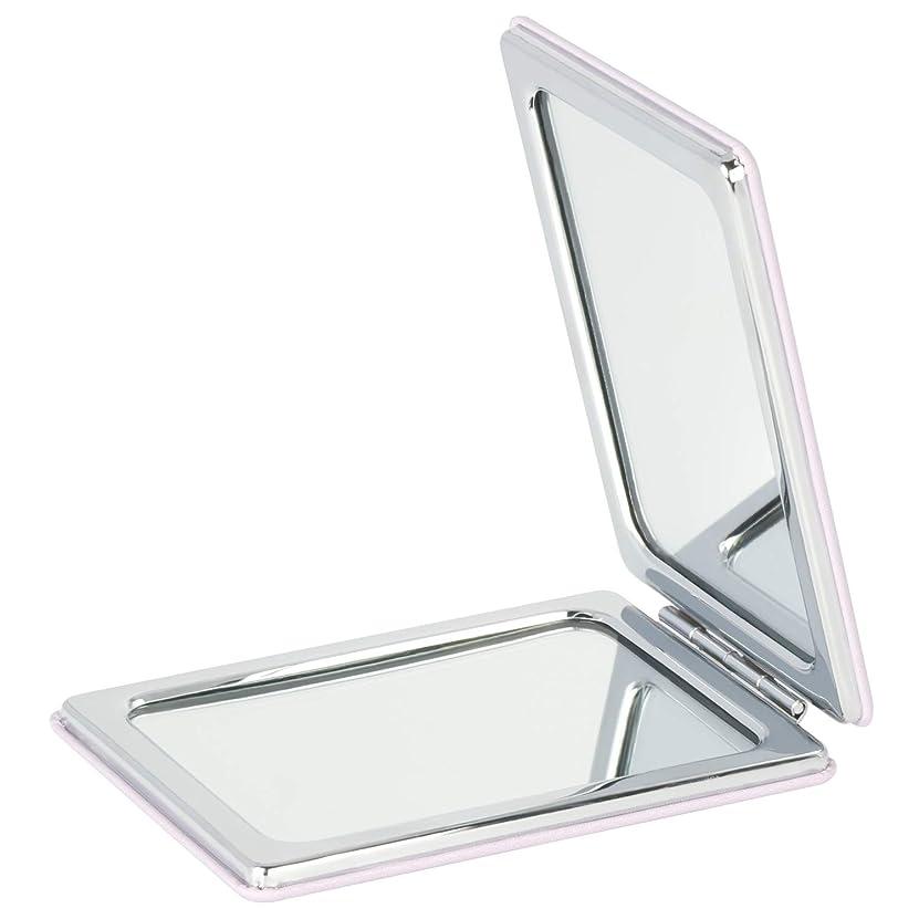 想起ラジカルライトニングMouyor 両面コンパクトミラー 手鏡 化粧鏡 携帯ミラー ハンドミラー 5倍拡大鏡+等倍鏡 折りたたみ (角形-A4)