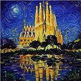 Poster 50 x 50 cm: Sagrada Familia, Barcelona von Mona