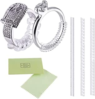 LOKIPA Ring Guards for Loose Rings Set of 12, Ring Size Adjuster 2 Sizes with Sliver Polishing Cloth Ring Spacer for Finger