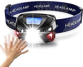 QSCTYG Hoofd Zaklamp 7000Lm Powerfull Koplamp Oplaadbare LED Koplamp Body Motion Sensor Hoofd Zaklamp Camping Zaklamp Lamp...