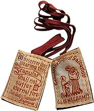 Traditional Brown Scapular Pack Wool Mount Carmel Scapulars with Gift Bag Dozen Bulk Set of 12