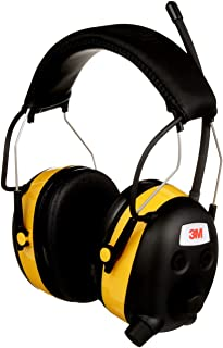 3M Safety Worktunes Hearing Protection with AM/FM Radio, Noise Cancelling, NRR 24 dB (90541), Wired, 1 size