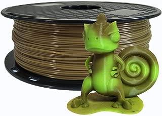 Color Changing Filament Brown to Green PLA Filament 1.75 mm 3D Printer Filament 1 KG Spool 3D Pen Filament 2.2 LBS Printing PLA Material Color Changing with Temperature