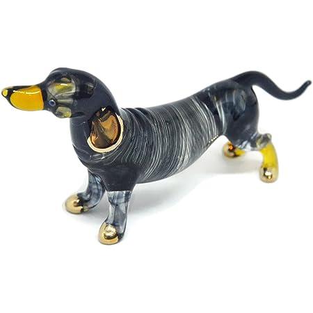 Collectible Glass Dachshund Dog Murano Glass Dachshund Dog Doll House Animals Mini Dachshund Dog
