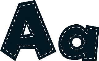 Teacher Created Resources Black Stitch 4-Inch Fun Font Letters (75150)