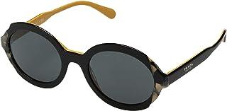 10c3c751c746b Prada Pr 17us - Óculos De Sol Cco 1a1 Preto E Amarelo Brilho