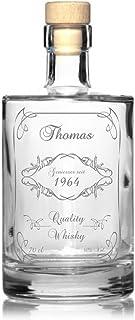 Edle Whisky Karaffe/Whisky Flasche inkl. persönlicher Gravur - Rund - Motiv 130