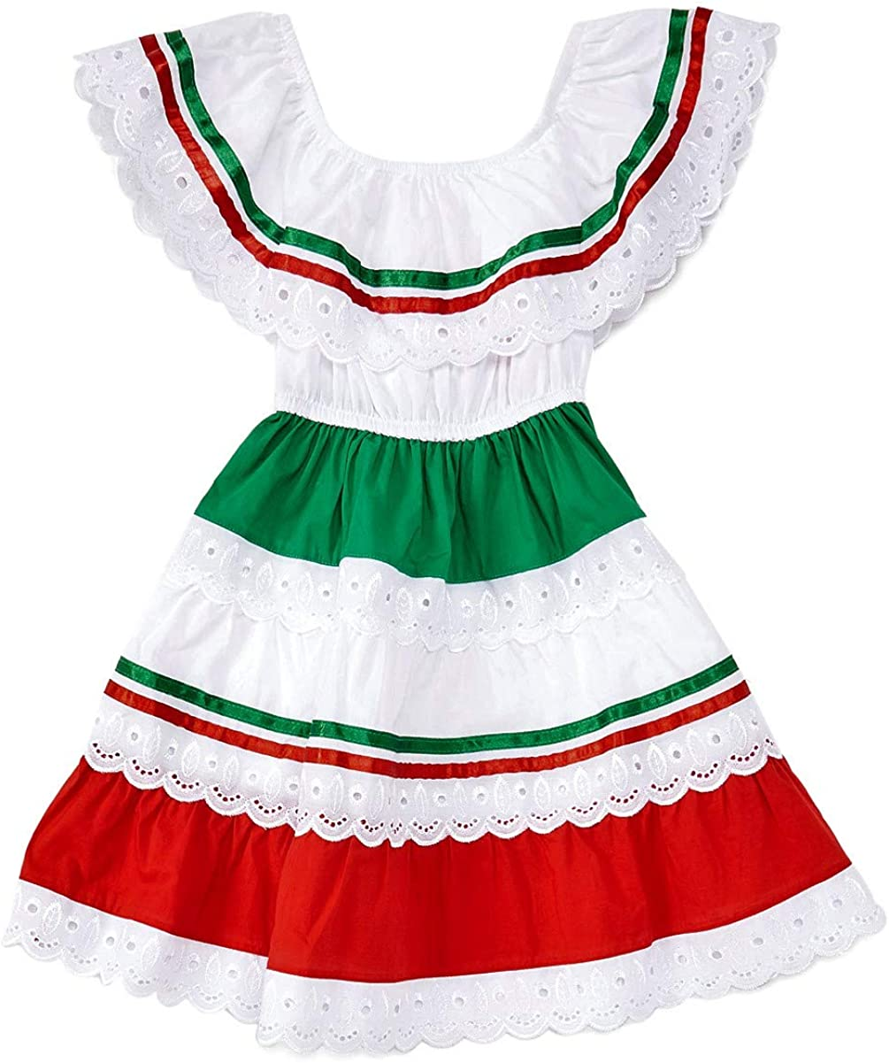 unik Girl's Traditional Mexican Cinco Super beauty product restock quality top Fiesta Dress Size Mayo De Sale price