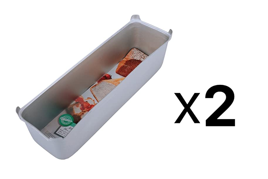 Wilton Aluminum 16 by 4 by 4-1/2-Inch Long Loaf Pan - Jumbo - Set of 2