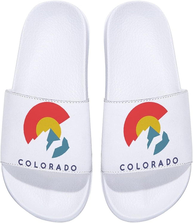 Bargain sale Colorado Flag Men's and Women's Comfort Out Slide latest Sandals Indoor