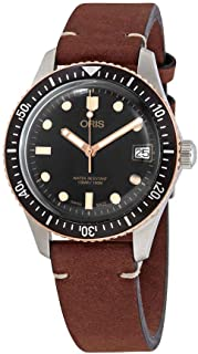 Divers Sixty Five Black Dial Automatic Men's Leather Watch 01 733 7747 4354-07 5 17 45