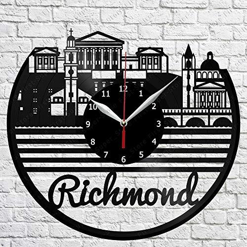 Samorou Richmond Skyline Vinyl Record Wanduhr Wohnzimmer Wanduhr 12