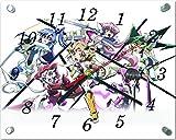アニメ  ガラス製 掛 置 時計 横型 20×25cm