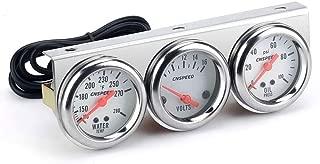 Carrfan 2'' Triple Gauge Kit Volt Gauge Water Temp Gauge Oil Pressure Gauge