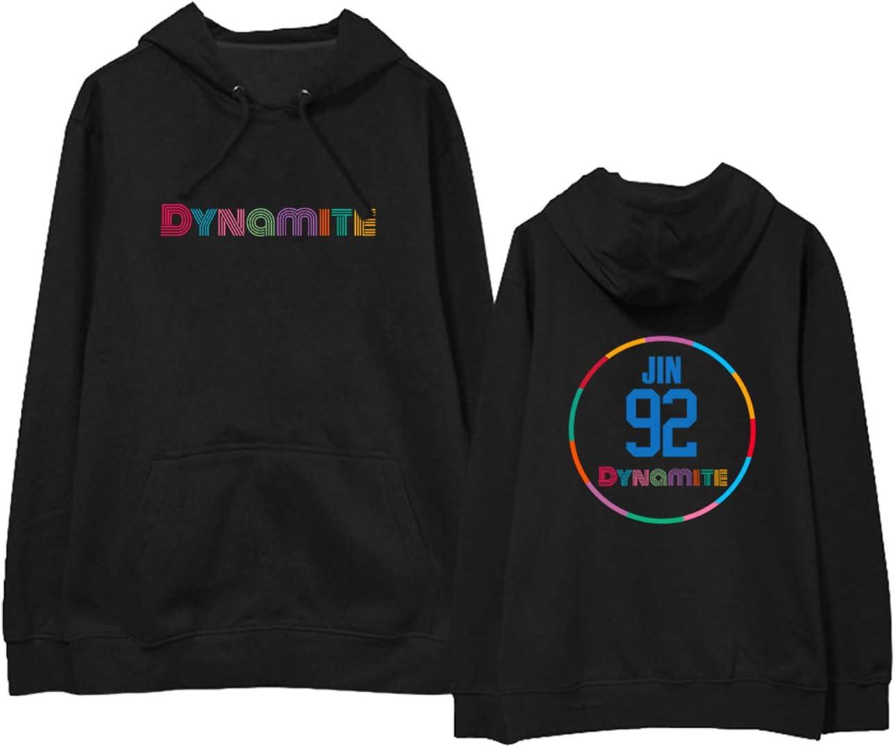 Xkpopfans Kpop BTS Hoodie Dynamite Support BTS Member Sweatshirt Jimin Suga RM Casual Pullover