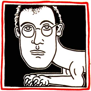 JH Lacrocon Pinturas a Mano Autorretrato 1986 de Keith Haring - 120X120 cm Reproducción Lienzo Figura Art Pop Art Graffiti-Like Poster Enrollado
