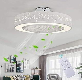 Ventilador silencioso, ventilador de techo con función de control remoto (velocidad del viento ajustable), luz de techo LED regulable moderna, jardín de infantes, dormitorio, diámetro 55 * 20 cm