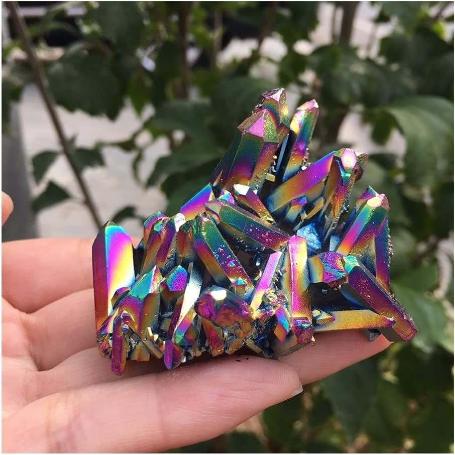 2021 model Natural Beauty of electroplated Superior Flowers Stone Metallic Beautiful