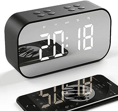 Tanouve Despertador con Altavoz Bluetooth Inalámbrico,