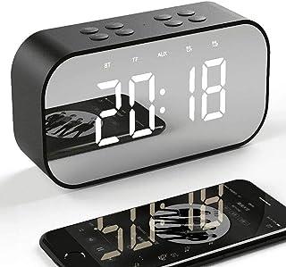 comprar comparacion Tanouve Despertador con Altavoz Bluetooth Inalámbrico, 2000mAh Recargable Digital Reloj Despertador Espejo con Tiempo/Alar...