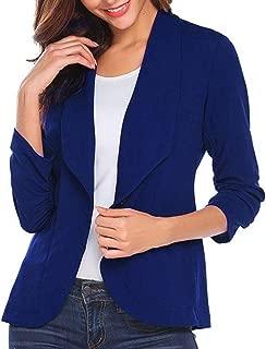 Blazers,Womens Long Sleeve Open Front Short Cardigan Button Design Suit Work Office Jacket by-NEWONESUN