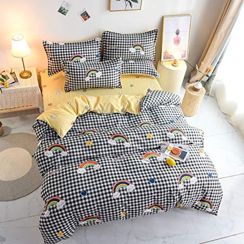 SHJIA Funda nórdica con Estampado de Frutas de Dibujos Animados, Ropa de Cama tamaño Queen para Todas Las Estaciones, súper Suave y cómoda, fácil de cuidar para Textiles para el hogar