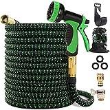 Maxee 50FT Garden Hose, Kink Free Expandable Garden Hose with 9 Function Spray