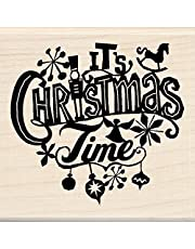 Inkadinkado Christmas Mounted Rubber Stamp, 7cm by 19cm , It's Christmas Time