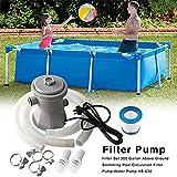 Volibear Juego de bomba de filtro de piscina, 240 V, bomba de circulación para piscinas en el suelo, soporte inflable para piscina, jacuzzi, circulación de 300 galones