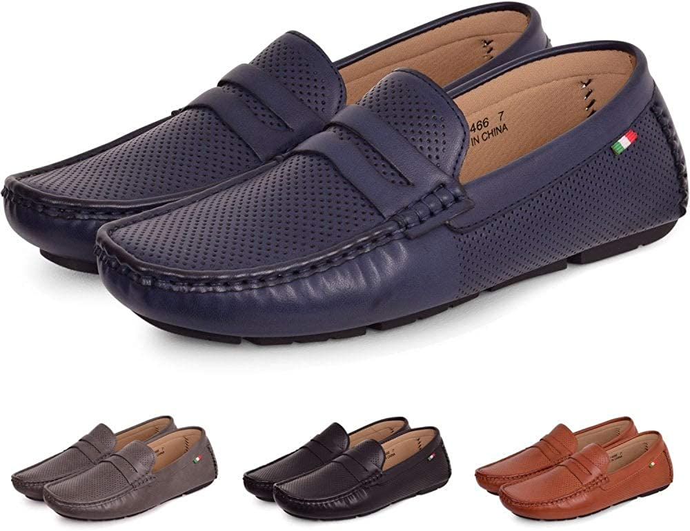Mens Driving Moccasins Shoes Pumps Slip on Loafers Mesh Breathable Soft Casual D