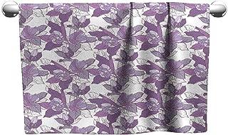 Tankcsard Pattern Hand Towels Seamless Pattern with Apple Blossom 1,Towel Organizer for Closet