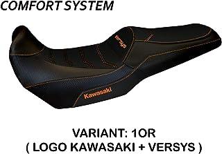 Revestimiento para sillín Kawasaki Versys 1000 (11-18) Modelo Lampedusa TB Comfort System Arancione