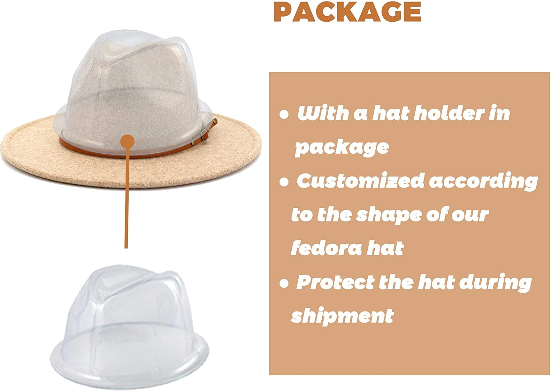Lisianthus Women Wool Wide Brim Belt Buckle Fedora Hat