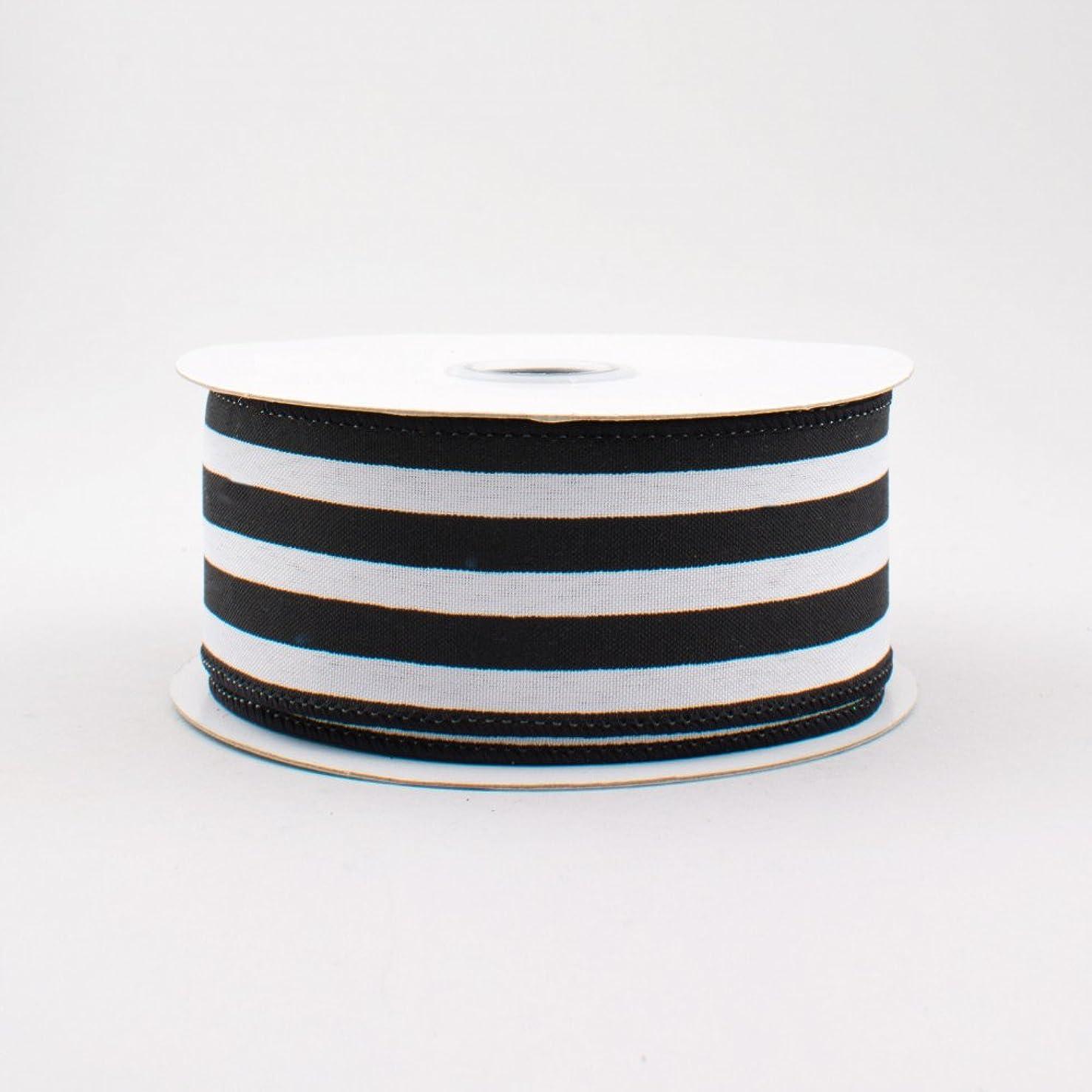 Vertical Stripe Wired Edge Ribbon (1.5