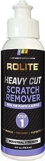Rolite Heavy Cut Scratch Remover (4 fl. oz.) for Plastic & Acrylic Surfaces Including Marine Strataglass & Eisenglass, Headlights, Aquariums