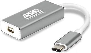 USB C to Mini DisplayPort Adapter, Allsmartlife USB Type C to Mini DisplayPort/Mini DP Adapter Cable with Aluminium Case Support 4K Resolution for Apple New MacBook, ChromeBook Pixel, Alienware- Grey