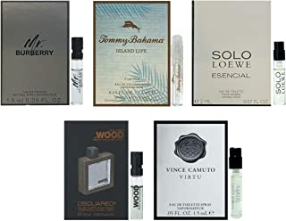 Men`s cologne sampler set - Designer perfume sample Lot x 5 Cologne Vials