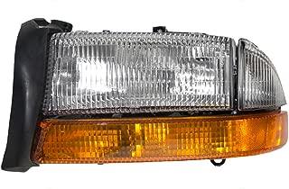 Composite Headlight Headlamp with Park Signal Lamp Driver Replacement for Dodge Dakota Pickup Truck Durango SUV 55055111AI